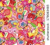 bright summer flower pattern...   Shutterstock .eps vector #178083485