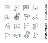 flag related icons  thin vector ... | Shutterstock .eps vector #1780836332
