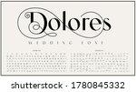 an elegant sans serif typeface... | Shutterstock .eps vector #1780845332