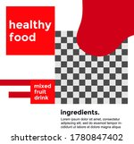 healthy food promotion  design. ... | Shutterstock .eps vector #1780847402