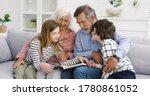 Caucasian Old Grandparents Wit...