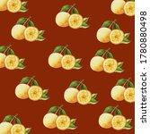 lemons fruit with leaf in... | Shutterstock . vector #1780880498