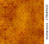 Seamless Golden Damask Tapestry