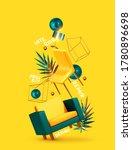 vector conceptual composition...   Shutterstock .eps vector #1780896698