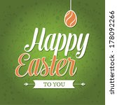 vector easter graphical... | Shutterstock .eps vector #178092266