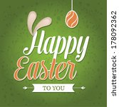 vector easter graphical... | Shutterstock .eps vector #178092362