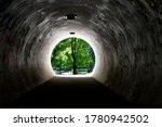 Dark Concrete Tunnel Leading To ...