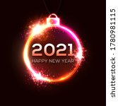 happy new year 2021. technology ... | Shutterstock .eps vector #1780981115
