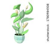 a single houseplant in a blue... | Shutterstock .eps vector #1780984508