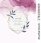 pink alcohol ink cards with... | Shutterstock .eps vector #1781000405