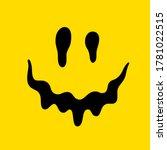 melting smile. dripping smile.... | Shutterstock . vector #1781022515