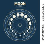 Moon Phases  Vector Calendar Of ...