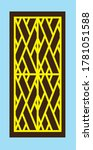 retro window grill pattern... | Shutterstock .eps vector #1781051588