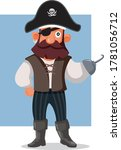 Funny Pirate Vector Cartoon...