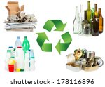 recycle concept. a selection of ...   Shutterstock . vector #178116896