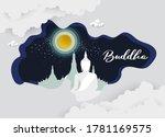 buddha temple religion of frame ... | Shutterstock .eps vector #1781169575