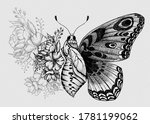 Butterfly Tattoo Design With...