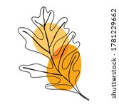 autumn icon line art. abstract... | Shutterstock .eps vector #1781229662