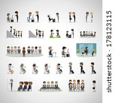 business peoples in different... | Shutterstock .eps vector #178123115