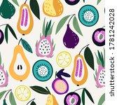 fashion tropics flat wallpapers....   Shutterstock .eps vector #1781242028