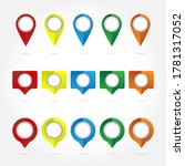 set of colorful flags  round... | Shutterstock .eps vector #1781317052