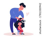 father time with daughter... | Shutterstock .eps vector #1781330942