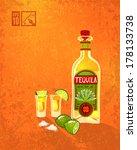 tequila   lime. vector... | Shutterstock .eps vector #178133738