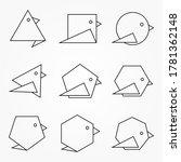 set of origami birds icons.... | Shutterstock .eps vector #1781362148