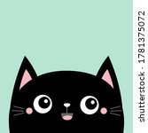 black cat kitten kitty smiling... | Shutterstock . vector #1781375072