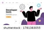 presentation slide template or... | Shutterstock .eps vector #1781383055
