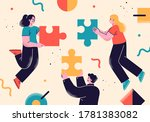 flat style business people...   Shutterstock .eps vector #1781383082