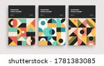 retro abstract geometric... | Shutterstock .eps vector #1781383085