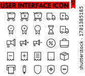 user interface vector line...