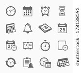 time and schedule stroke symbol ...