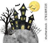 Halloween Holiday Castle  Bat ...