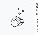 clap hand icon isolated on... | Shutterstock .eps vector #1781394782