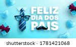 feliz dia dos pais.happy father'... | Shutterstock .eps vector #1781421068
