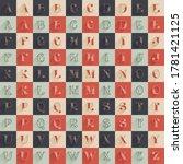 classic alphabet with premium...   Shutterstock .eps vector #1781421125