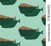 cartoon cute whale seamless... | Shutterstock .eps vector #178144052