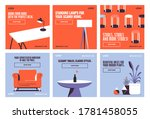 furnitures decor social media... | Shutterstock .eps vector #1781458055