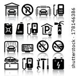 transport service set of black... | Shutterstock .eps vector #178146386