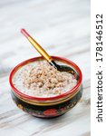 buckwheat with milk served in a ... | Shutterstock . vector #178146512