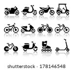 motorcycles and bicycles set of ... | Shutterstock .eps vector #178146548