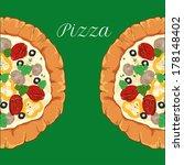 vector neapolitan pizza with... | Shutterstock .eps vector #178148402