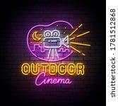 outdoor cinema neon sign  drive ... | Shutterstock .eps vector #1781512868