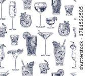 cocktail seamless pattern. hand ... | Shutterstock .eps vector #1781533505