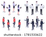 business people isometric set.... | Shutterstock .eps vector #1781533622