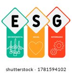 esg concept of environmental ... | Shutterstock .eps vector #1781594102