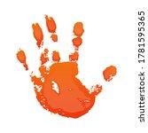 hand print 3d isolated white... | Shutterstock .eps vector #1781595365
