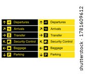 airport direction signs.... | Shutterstock .eps vector #1781609612
